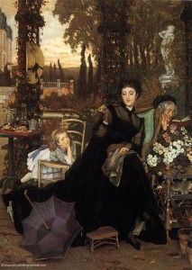 "James Jacques Joseph Tissot, ""A Widow"" (1868)"
