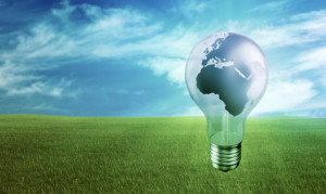 Global green eco-friendly energy concept background