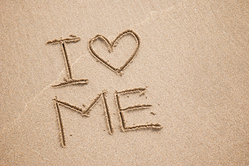 I-Love-Me-written-in-sand